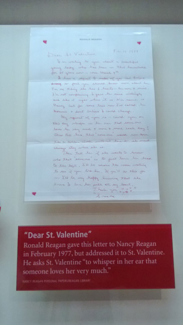 Reagan love letter
