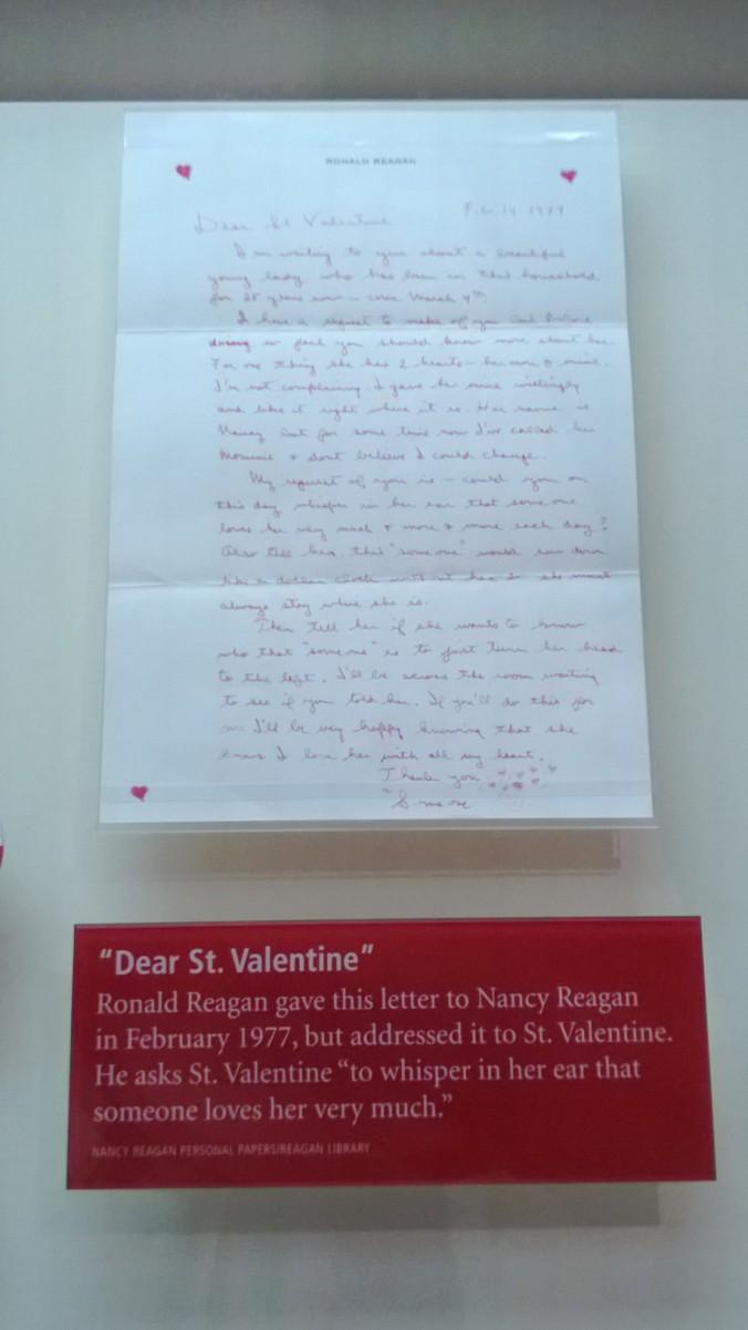Reagan love letter