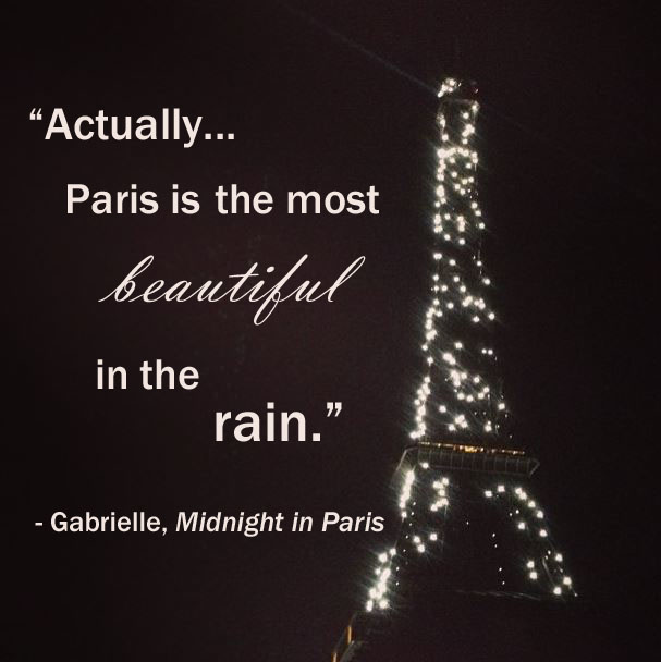 eiffel paris rain quote