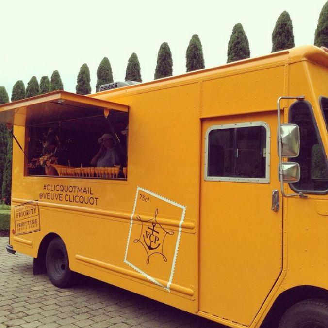 veuve cliquot champagne truck