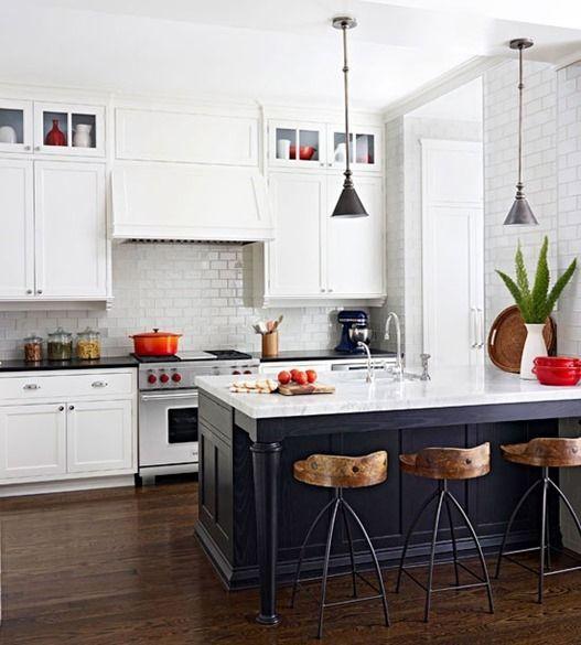 White Kitchen Red Accessories 10 favorite black and white kitchens | a dash of cinema