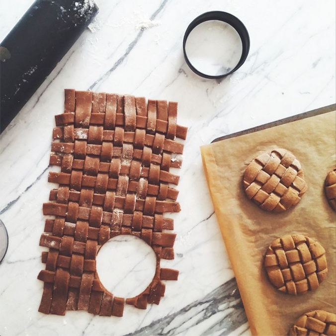 woven gingerbread