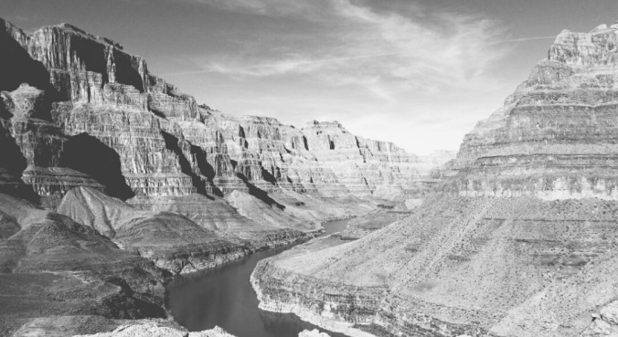 Black and white Grand Canyon - 2