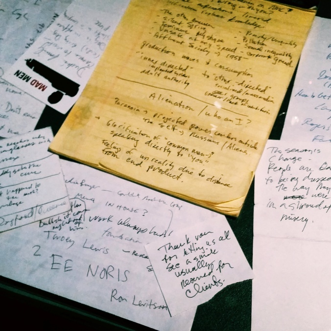 mad men notes
